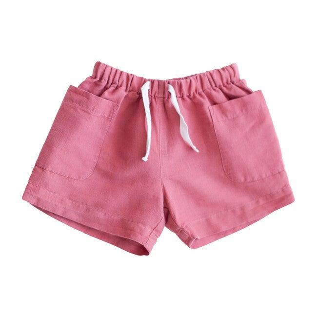 Linen Birch Shorts, Cedar - Shorts - 1