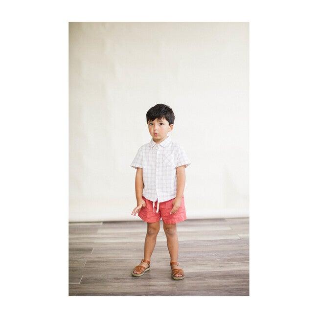 Linen Birch Shorts, Cedar