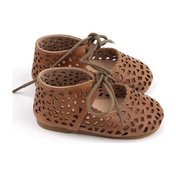 Leather Boho Mary Jane, Hazelnut