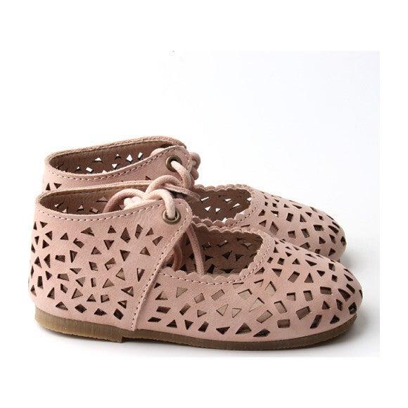 Leather Boho Mary Jane, Rosewater