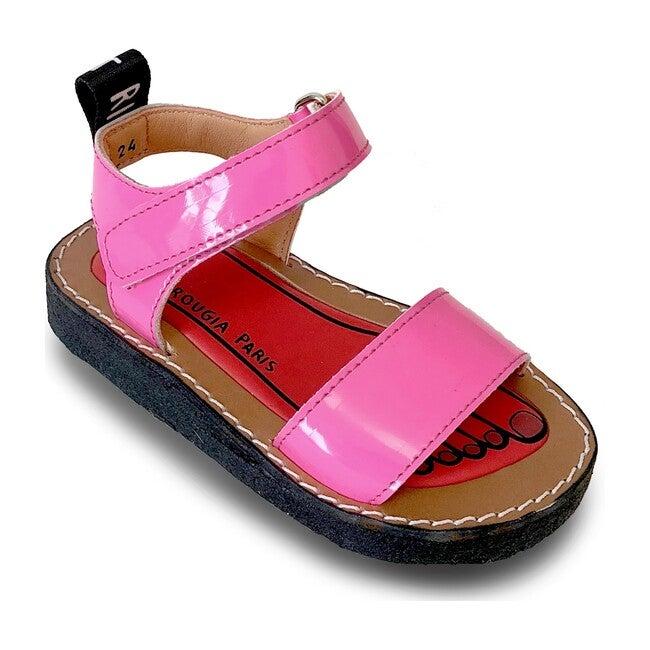 Izy Leather Sandal, Bubblegum Pink