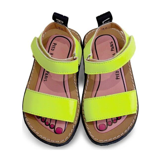 Izy Leather Sandal, Lemonade Yellow
