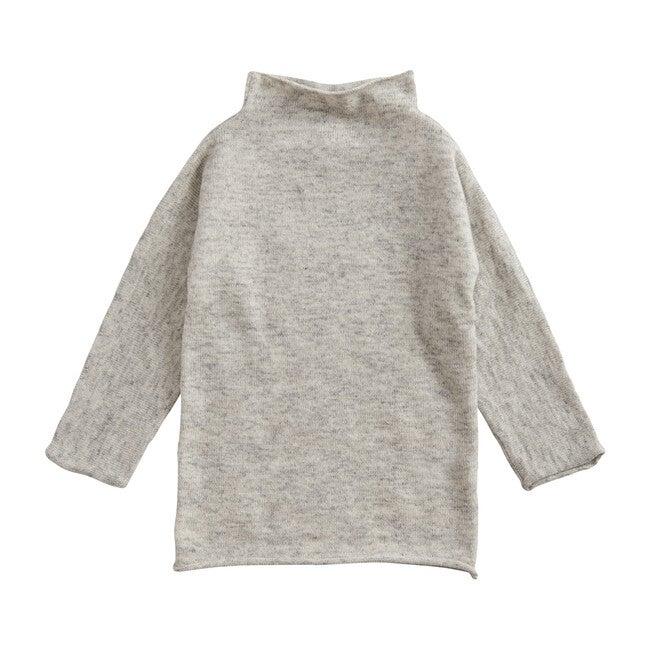 Funnel Dress, Silver Grey Marl