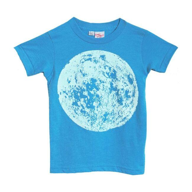 Full Moon Heather Crew Tee, Turquoise