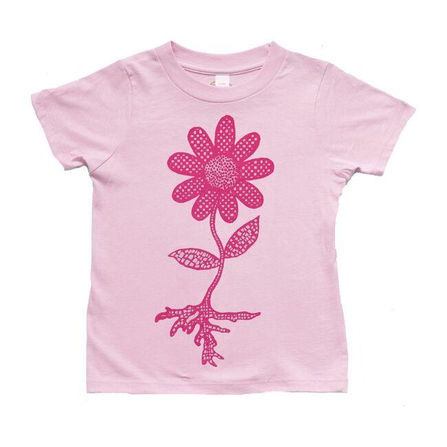 Flower Power Organic Cotton Tee, Pink