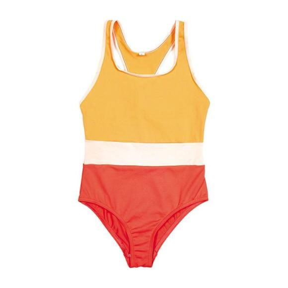 Farol One Piece Swimsuit, Orange, Pink and Coral