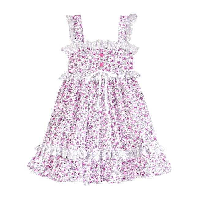 Ditsy Della Prairie Dress, Pink