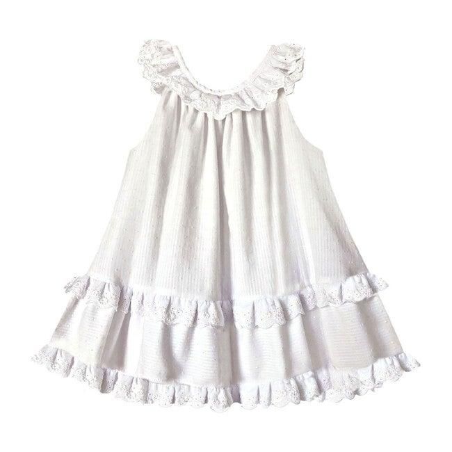 Clemmie Trapeze Dress, White