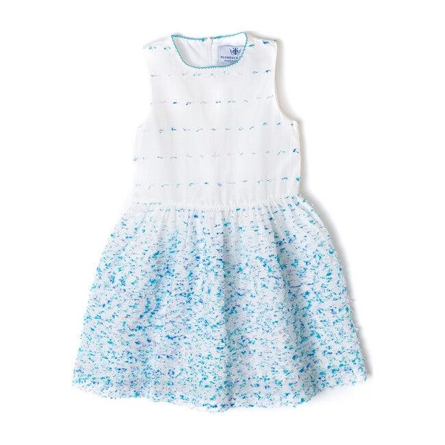 Clarissa Blue & White Dress