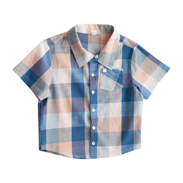 Chex Thistle Shirt, Blue