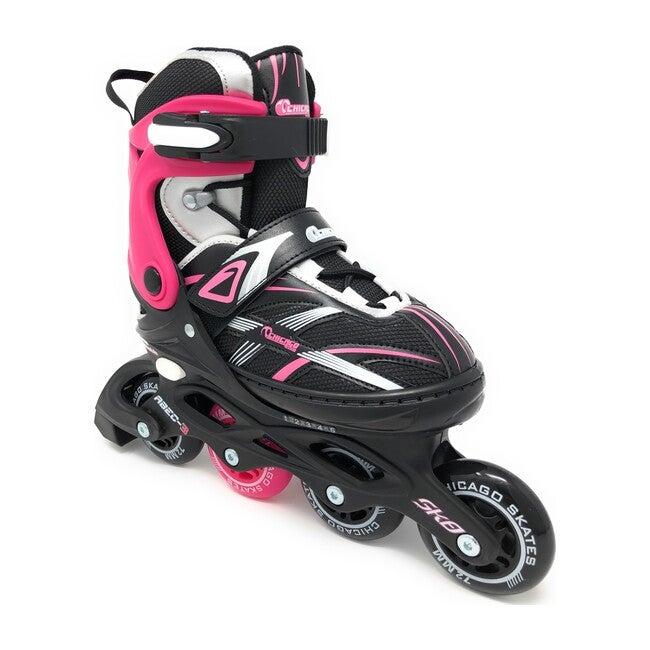 Adjustable Inline Skates, Pink/Black
