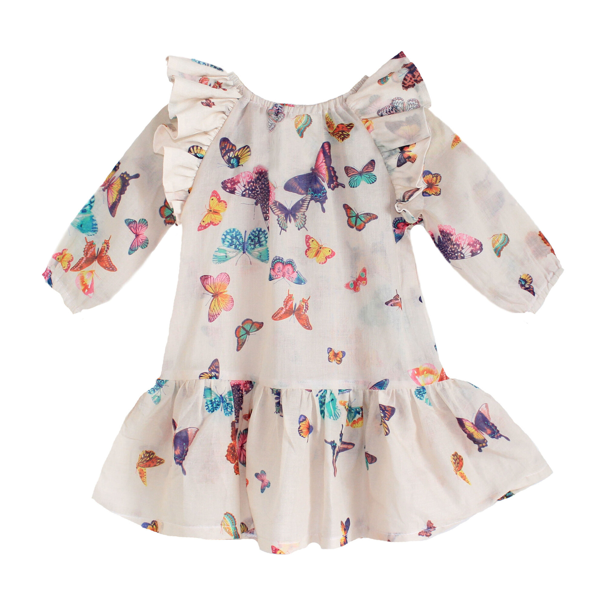Butterfly Peasant Dress - Kids Girl Clothing Dresses - Maisonette