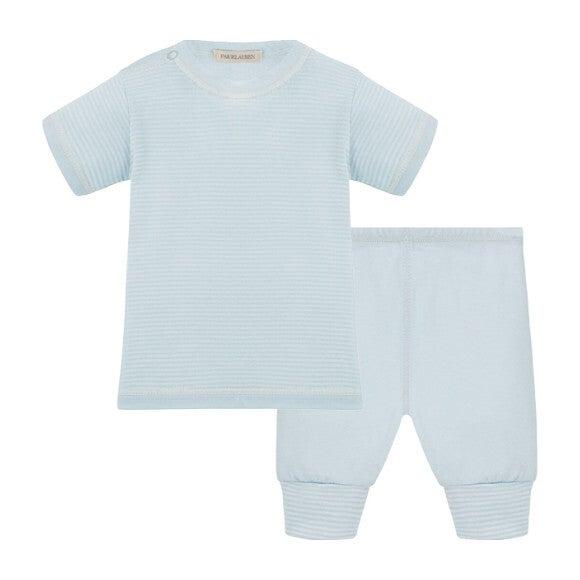 Baby Short Sleeve Tee & Legging Layette Set, Blue
