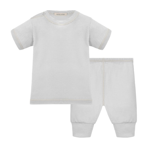 Baby Short Sleeve Tee & Legging Layette Set, Grey