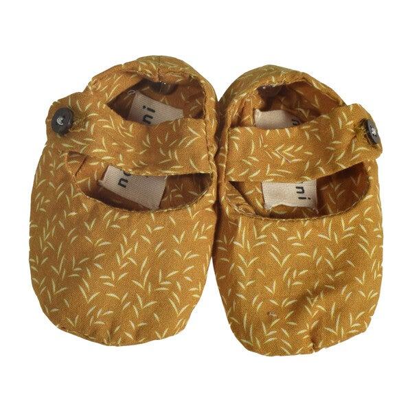 Pepo Baby Shoes, Mustard Poplin - Baby