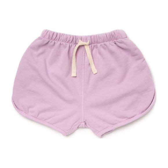Cotton Terry Track Shorts, Violet