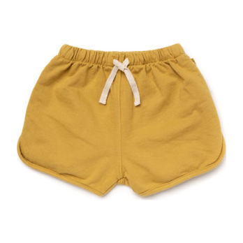 Cotton Terry Track Shorts, Chartreuse