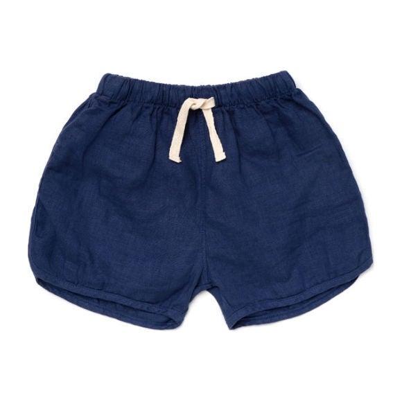 Linen Track Shorts, Marine