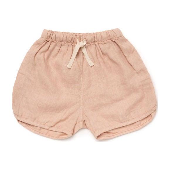 Linen Track Shorts, Rose
