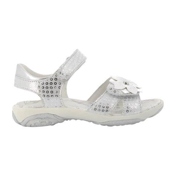 Flower Sandal, Silver