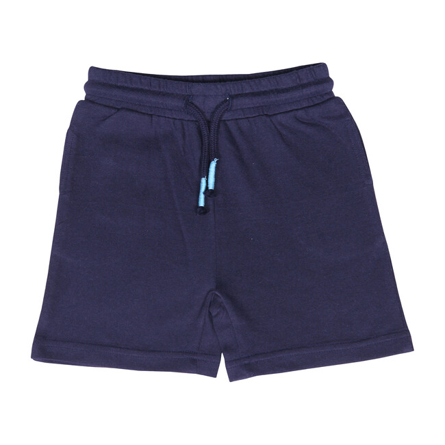 Knit Jogger Short, Navy - Shorts - 1