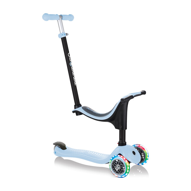 Go-Up Sporty Scooter with Lights, Pastel Blue