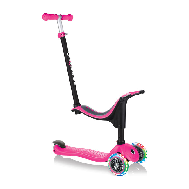 Go-Up Sporty Scooter with Lights, Deep Pink