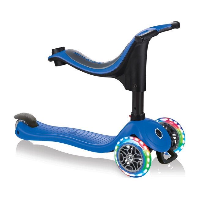 Go-Up Sporty Scooter with Lights, Navy Blue