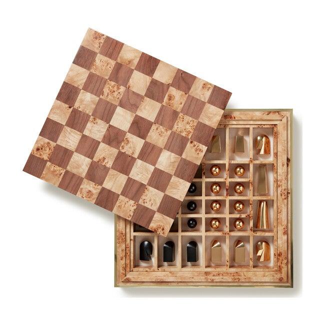 Shagreen Chess Set, Cream