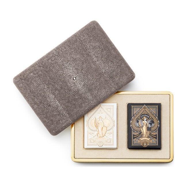 Shagreen Card Case, Chocolate