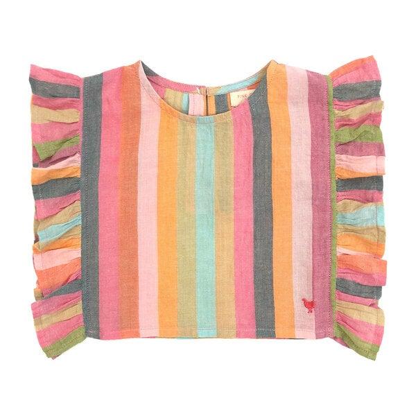 Ingrid Top, Multi Stripe
