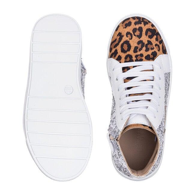 *Exclusive* Rockstar Sneaker, Silver Glitter & Leopard