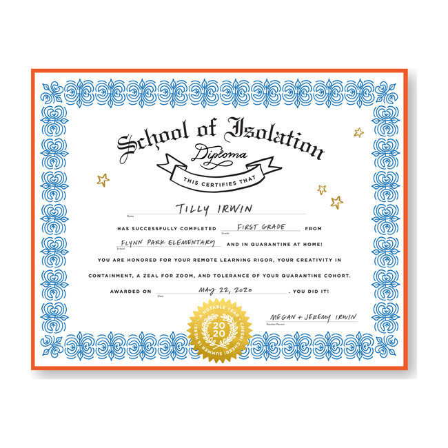 School of Isolation Diploma