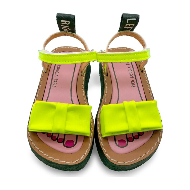 *Exclusive* Bow Bow Sandal, Lemonade Yellow