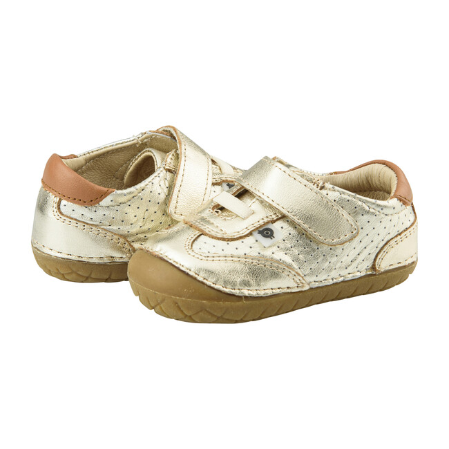 Sporty Pave Sneaker, Gold