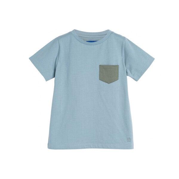 Avery Contrast Pocket Tee, Sky Blue
