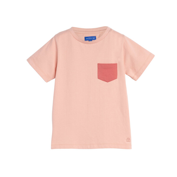 Avery Contrast Pocket Tee, Rose
