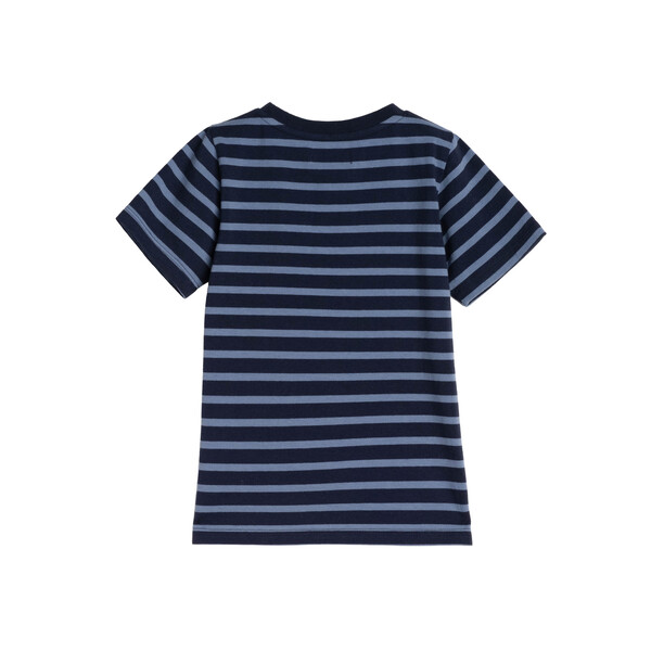 Avery Striped Pocket Tee, Navy & Storm Blue Stripe