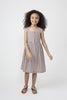 Olympia Button Front Dress, Mocha Stripe - Dresses - 5