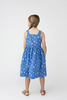 Olympia Button Front Dress, Blue Strawberries - Dresses - 4