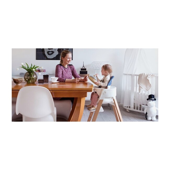 Stokke® Steps™ HighChair, Natural Legs with White Seat