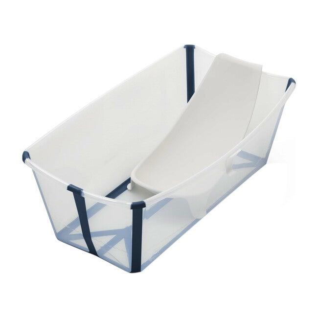 Flexi Bath® Bundle, Tub + Newborn Support, Blue