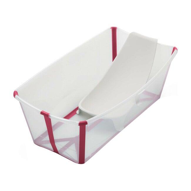 Flexi Bath® Bundle, Tub + Newborn Support, Pink