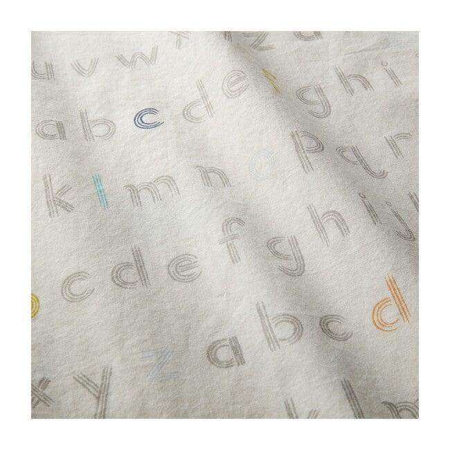 Sleepi™ Mini Fitted Sheet by Pehr, Rainbow Alphabet Lines