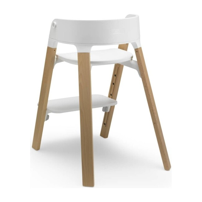 Stokke Steps™ Chair, Natural legs with White Seat