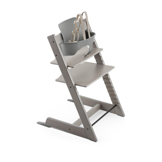 Tripp Trapp® High Chair (includes Tripp Trapp® + Baby set), Oak Greywash