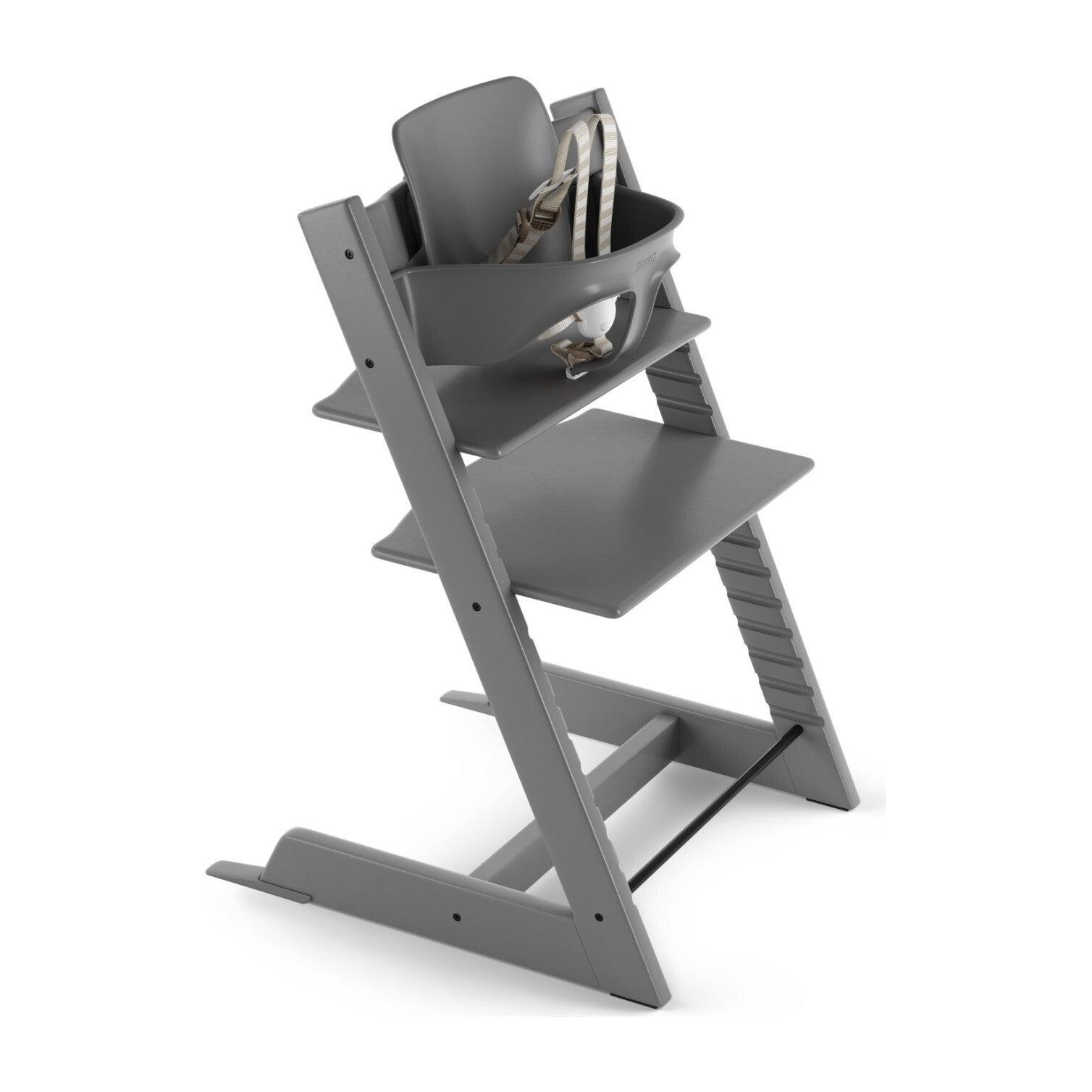 Tripp Trapp® High Chair (includes Tripp Trapp® + Baby set), Storm Grey