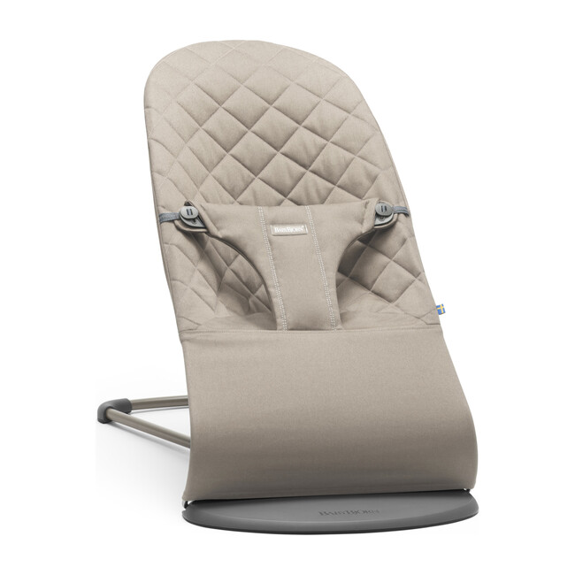 Bouncer Bliss Quilted Cotton, Sand Grey