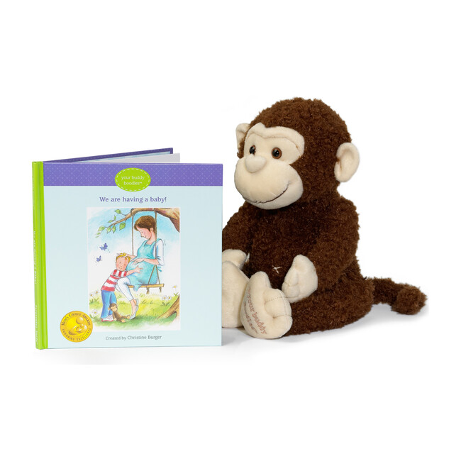 Boodles Plush Toy & We Are Having a Baby! Book