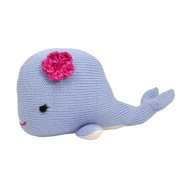 Whale with Flower Plush